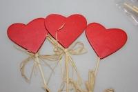 Декоративные вставки - 9545  Вставка Сердце красное (12 шт в уп)