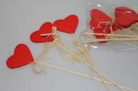 вставки декоративные вставки - 9545  вставка сердце красное (12 шт в уп) 7375