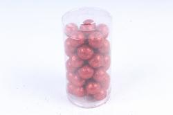 Декоративный наполнитель с глиттером (пенопласт) 2cm, красный, Шарики 2см  ABJ420530(А)