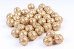 Декоративный наполнитель с глиттером (пенопласт) 2cm, золотой, Шарики 2см  ABJ420500(А)