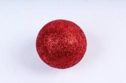 Декоративный наполнитель Шарики с глиттером (пенопласт) красный  САА715420
