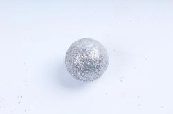 Декоративный наполнитель Шарики с глиттером (пенопласт) серебро D=2см САА715410
