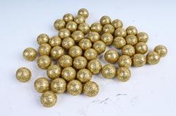 Декоративный наполнитель Шарики с глиттером (пенопласт) золото D=2см САА715400