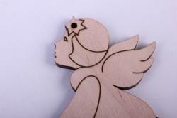 деревянная заготовка - ангел, смотрящий в небо 6*8см, фанера 4мм 101075