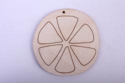 деревянная заготовка - апельсин 8см, фанера 4мм 101003