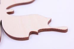 деревянная заготовка - бабочка 1 15*11,7см, фанера 4мм  9-8-601