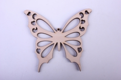 деревянная заготовка - бабочка 5 резная 10*9см, фанера 4мм 9-8-605