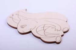 деревянная заготовка - белка с желудем 12*15см, фанера 4мм 005015