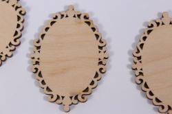 деревянная заготовка - бирка №1, набор 3шт, 8*5,5см, фанера 3мм  302052