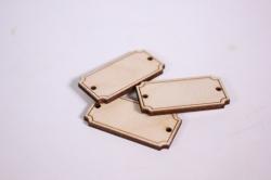 деревянная заготовка - бирка №29, 4*2см, набор 3шт, фанера 3мм,  302072