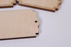 деревянная заготовка - бирка №36, 3,3*5см, набор 3шт, фанера 3мм,  302076