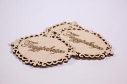 """деревянная заготовка - бирка-сердечко """"поздравляю"""", набор 3 шт, 8*5,5см, фанера 3мм 302021"""