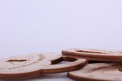 """деревянная заготовка - бирка """"замок"""" 6*7см набор 3шт, фанера 3мм 302069"""