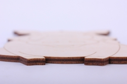 деревянная заготовка - бородавочник 11*15см, фанера 4мм 005026