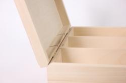 деревянная заготовка - чайная коробка на 3 отделения 24x15см h=8см