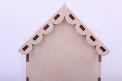 деревянная заготовка - чайный домик с чайником 9*9*16см, фанера 3мм  503266