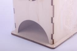 деревянная заготовка - чайный домик с кошкой 9*9*16см, фанера 3мм  503264