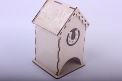 Деревянная заготовка - Чайный домик с подковой 9*9*16см, фанера 3мм  503262