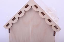 деревянная заготовка - чайный домик с розой 9*9*16см, фанера 3мм 503272