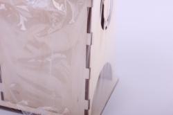 деревянная заготовка - чайный домик с самоваром 9*9*16см, фанера 3мм 503265