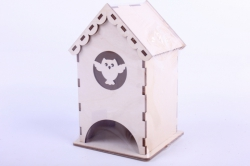 Деревянная заготовка - Чайный домик с совой 9*9*16см, фанера 3мм 503261