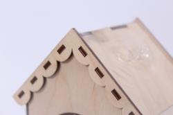 деревянная заготовка - чайный домик влюбленные коты 9*9*16см, фанера 3мм 503268