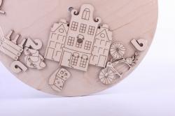 деревянная заготовка - часы амстердам, диаметр 30см, основа фанера 6мм, накладки фанера 3мм 201031
