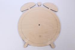 Деревянная заготовка - Часы Будильник, d=25см, основа фанера 6мм, 302044