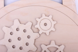 деревянная заготовка - часы наручные, диаметр 25см, основа фанера 6мм, накладка фанера 3мм  302047
