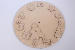 Деревянная заготовка - Часы Новогодние, d=30см, основа  6мм, накладки  3мм  503306