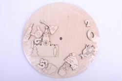 Деревянная заготовка - Часы Россия, диаметр 25см, основа фанера 6мм, накладки фанера 3мм 201033