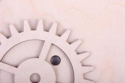 деревянная заготовка - часы с шестеренками, диаметр 25см, основа фанера 6мм, накладка фанера 3мм  302048