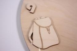 деревянная заготовка - часы школа, d=30см, основа фанера 6мм, накладки фанера 3мм  201032