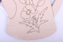 деревянная заготовка - доска для выжигания и росписи лейка 18*20,5см, фанера 4мм  402073