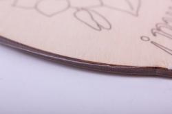 """деревянная заготовка - доска для выжигания и росписи ваза """"с 8 марта"""" 18*14см, фанера 4мм  402058"""