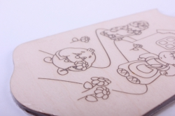 """деревянная заготовка - доска для выхигания и росписи """"колобок"""" 18*11см, фанера 4мм  402072"""