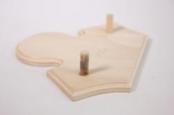 Деревянная заготовка - Доска Дуэт на вешалке L=17см h=13см