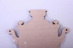 деревянная заготовка - доска самовар 18*13,5см. фанера 4мм 402070