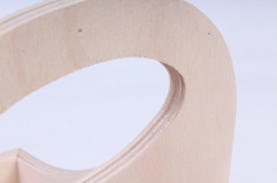 деревянная заготовка - двойная подставка под специи