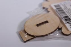 деревянная заготовка - ёлка на подставке 15см, фанера 4мм,  302001
