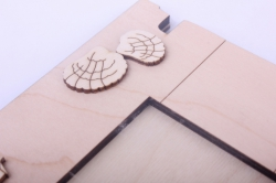 деревянная заготовка - фоторамка море малая с накладками, основа 16*5*19,5см, размер фото 9*7см, фанера 6мм, 402077