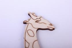 деревянная заготовка - жираф 9*20см, фанера 4мм 005050