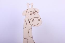 деревянная заготовка - жираф 9,5*20см, фанера 4мм 005041