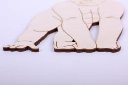 деревянная заготовка - горилла 12,5*15см, фанера 4мм  005029