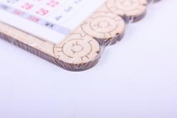 деревянная заготовка - календарь счастье в дом, календарь в комплекте 7,5*6,5см, фанера 4мм 108026