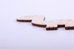 деревянная заготовка - карнозаврик 12*10см, фанера 4мм 005061