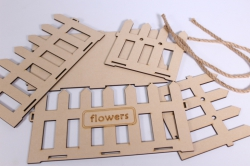 """деревянная заготовка - кашпо под цветы """"заборчик"""" фанера с ручками  25*13, h=13см"""