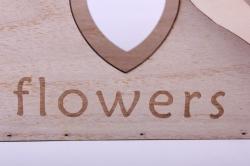 деревянная заготовка - кашпо ящик дерево с ручкой с сердцем 24*16*17/34см