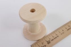 деревяннаязаготовка-катушкадеревяннаядлядекора7*4см