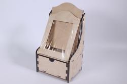 Деревянная заготовка - Комодик с рамкой, фото 9*12см, фанера 6мм 302038